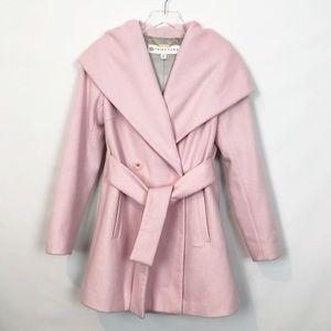 Trina Turk Amelia Blush Shawl Collar Belted Coat 2